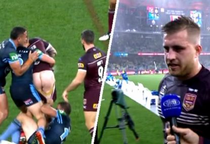 A cheeky couple of minutes for Cam Munster in Origin 2