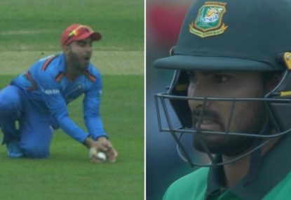 Unhappy Bangladesh opener stands his ground in controversial catch