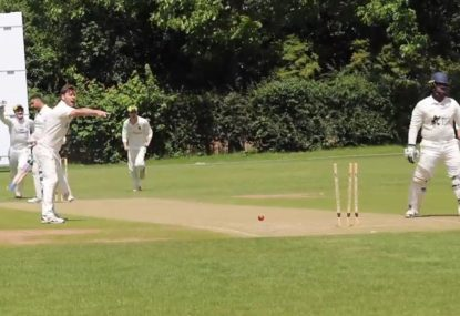 Batsman pulls off a marvelous drive... and gets his partner OUT