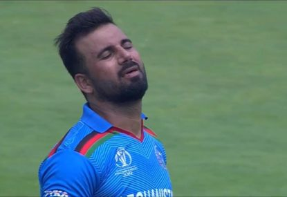 Afghanistan fielder drops the sitter to end all sitters... off the skipper's bowling