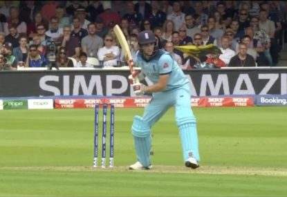 Aaron Finch teases English fans after brilliant team catch