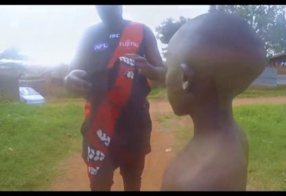 African edition of Essendon theme song set to blast against Giants