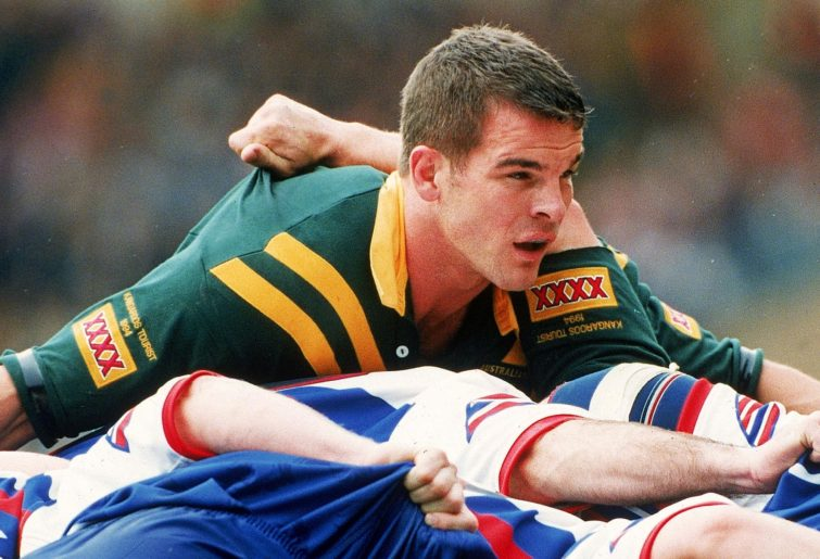 Ian Roberts in action for Australia