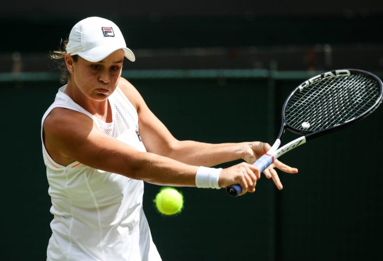 Ash Barty during Wimbledon 2019