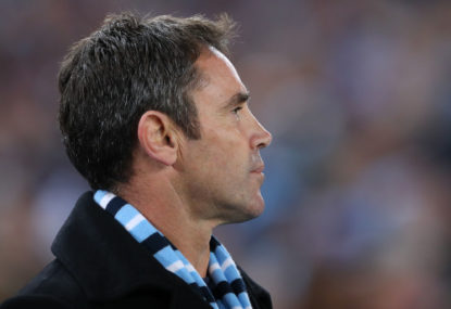 Brad Fittler takes advice from battered Blues