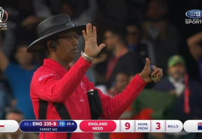 Were the umpires wrong to award England six runs for this freak moment?