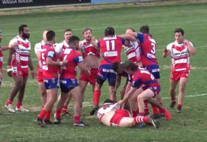 Ugly scenes in local footy match after coat hanger is followed by king hit