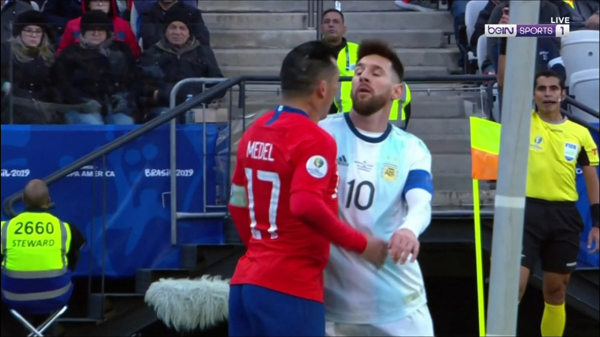 Watch Lionel Messi Controversially Cops The Second Red Card Of His Career