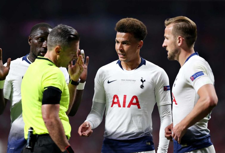 Tottenham players in the Champions League final
