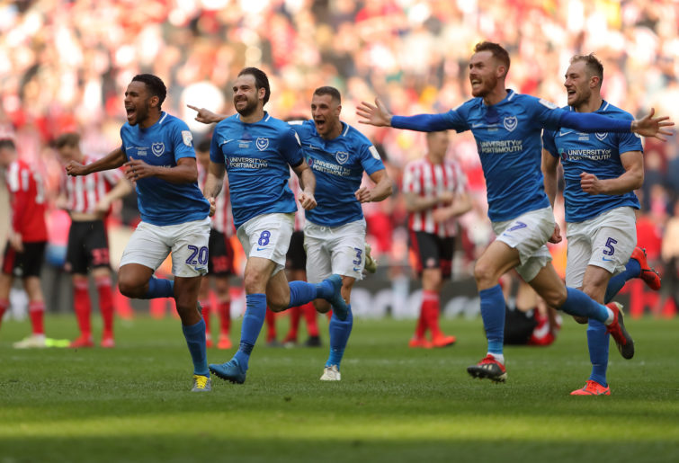 Portsmouth players celebrate
