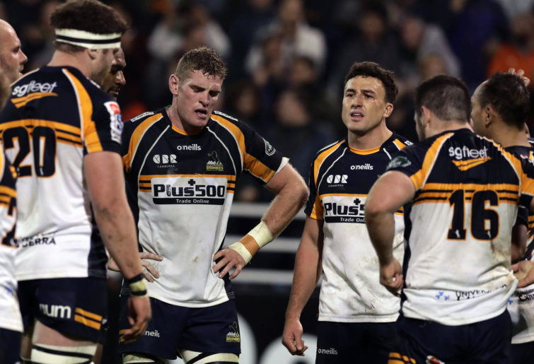Tom Banks and the Brumbies after their semi-final loss