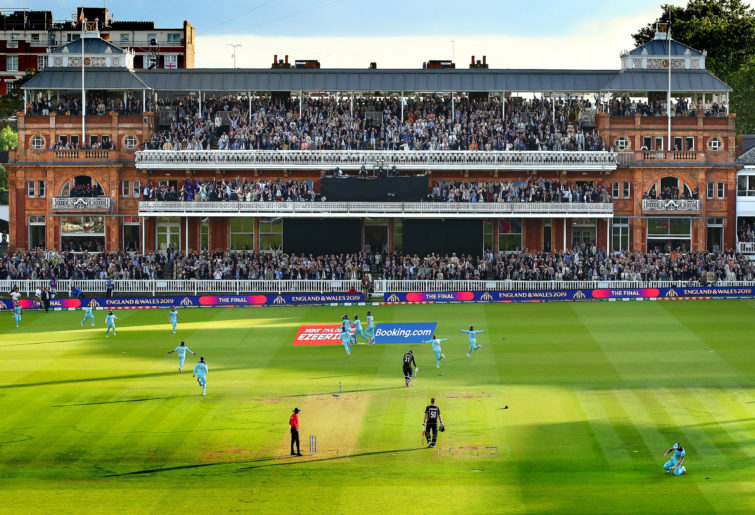 England celebrate winning the World Cup at Lord's