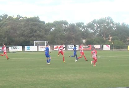 Enormous boot from keeper sets up unlikely goal