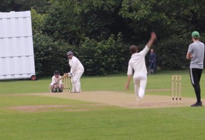 The worst three-ball sequence in village history somehow ends in a wicket