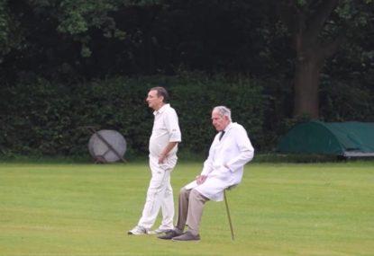 This genius umpire has discovered the secret to square leg