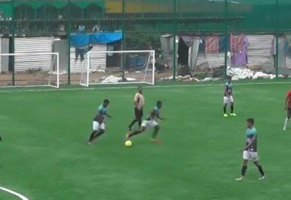 Genius free kick leaves goalie exasperated by the cheekiest of goals