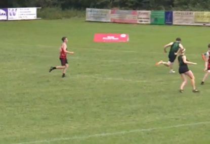 Sleepy defenders let attacker stroll in for easiest try of his career