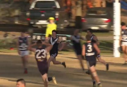 Forward hits stunning Eddie Betts-esque goal from impossible angle