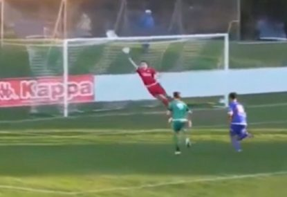 Local keeper channels Mark Schwarzer with insane diving save