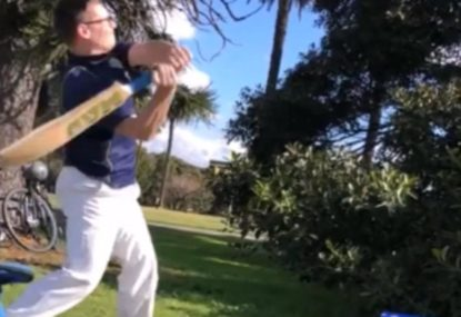 Park cricketer hilariously hurls his bat into orbit after getting out
