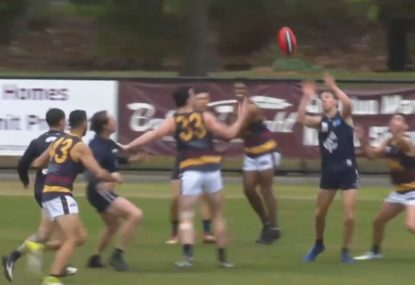 Ball bounces through for the most unlikely of goals off stoppage play