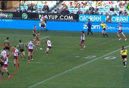 DCE fires up after copping late hit from Rabbitohs prop