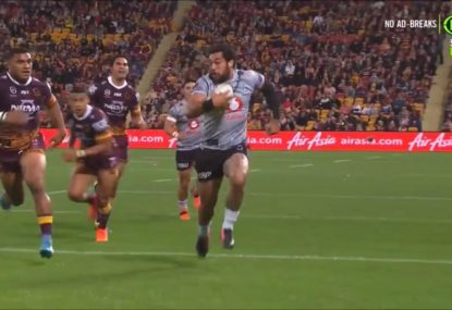 'He's in shock!' Adam Blair winds back the clock to torch the Broncos