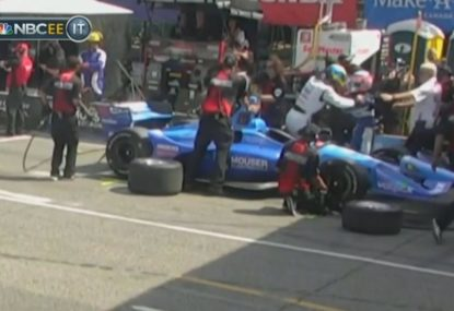 IndyCar drivers nearly trade punches as tensions boil over during practice session