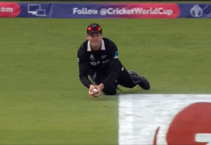 NZ bowler takes 'one of the great outfield catches of all time' as England wobble