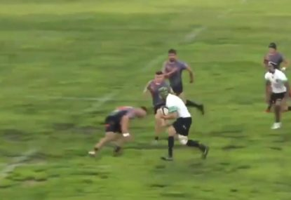 Big Boppa collides with brave winger in earth-shattering hit