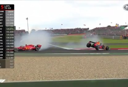 Vettel rear-ends Verstappen in ridiculous British GP crash