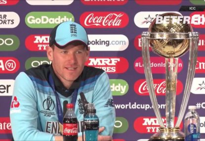 Eoin Morgan England had 'the rub of the green' in World Cup Final thriller