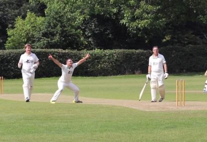 Cheeky bowler's joke goes wrong after umpire gets HIT BY THE BALL