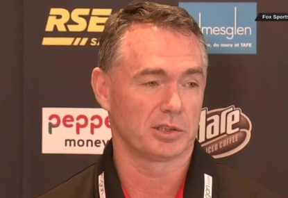 Sacked St Kilda coach's emotional press conference