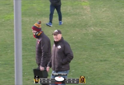 Rodney Eade's cheeky response to park footy question