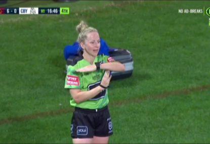 Belinda Sharpe makes history as NRL's first female match referee