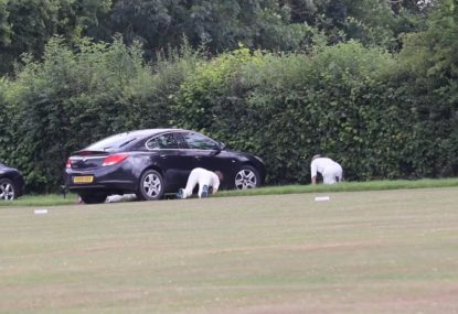 Ball getting stuck under parked car at midwicket is peak village
