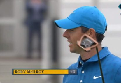 Rory McIlroy channels inner weekend hacker with first hole quadruple-bogey