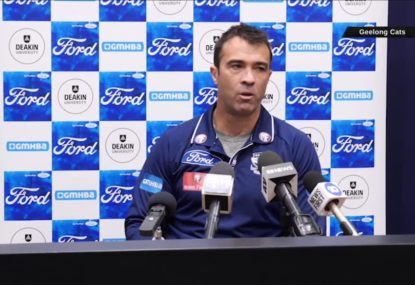 Chris Scott slams AFL 'furphies' amid Geelong's home final push