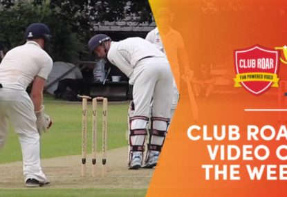 CLUB ROAR VIDEO OF THE WEEK: Batsman saved by one-in-a-million moment of magic