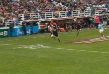 All Blacks big man's intercept try keeps the Pumas at bay