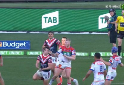 Braith Anasta blows up as bunker somehow misses the most blatant knock-on