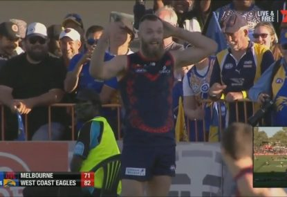 Max Gawn fumes over controversial free kick that leads to a goal