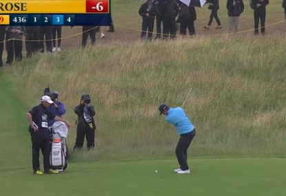 Justin Rose rips one of the all-time great shanks at the British Open