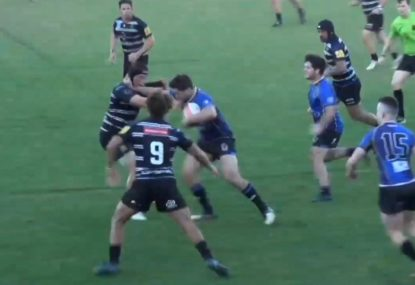 Winger unleashes brutal fend before being cut down by friendly fire