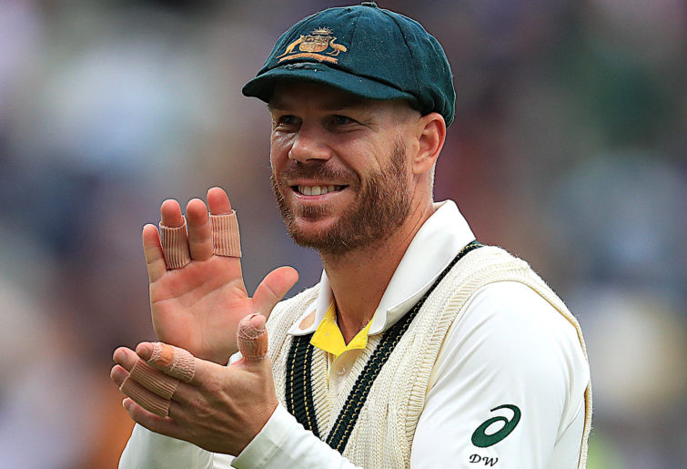 David Warner during Day One of the first Ashes Test.