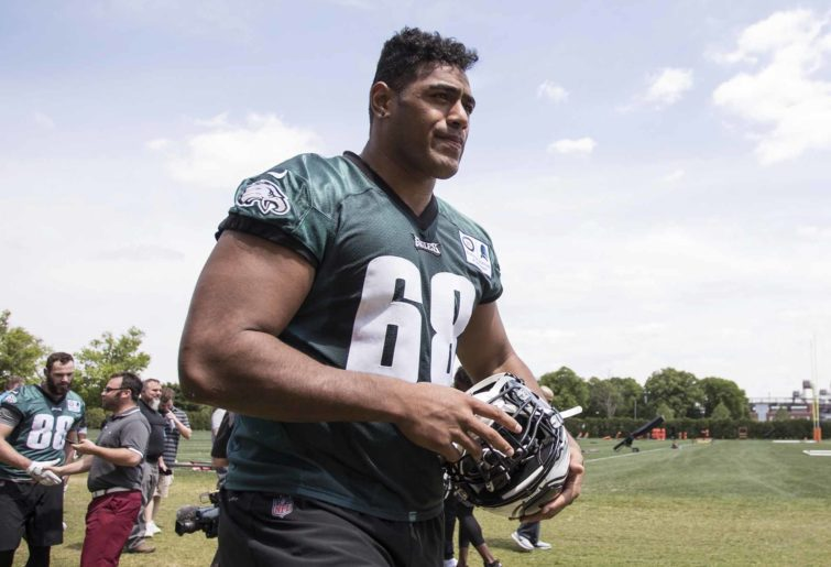 Philadelphia Eagles offensive lineman Jordan Mailata