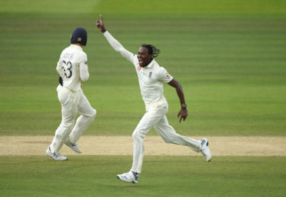 Jofra Archer celebrates