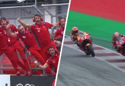 The epic finish to the Austrian MotoGP