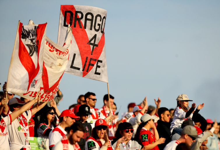 NRL Dragons fans.